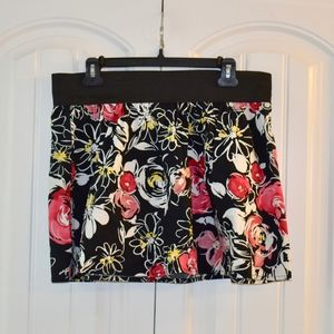 Heart Soul Floral Skirt Size XL NWT